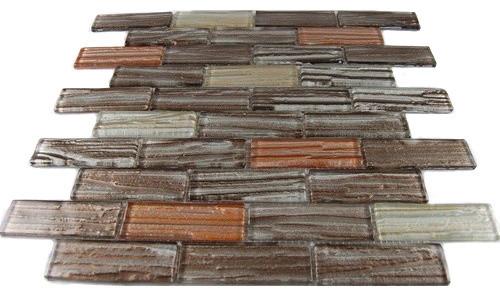 Terrene Jupiter Blend 1x3 Glass Tiles contemporary-tile