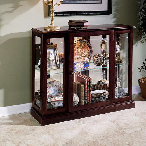 keepsakes console curio cabinet modern china cabinets