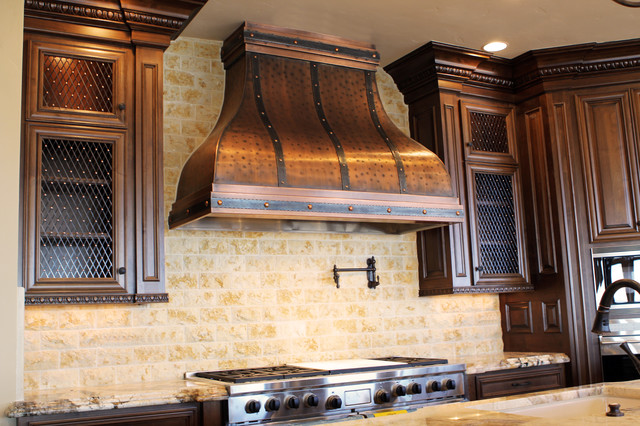 ... Copper Range Hood - by Art of Rain traditional-range-hoods-and-vents