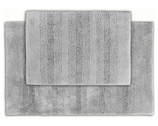 Sands Rug - Westport Stripe Stormy Seas Washable Bath Rug (Set of 2) - Classic and comfortable, the Westport Stripe bath collection adds instant luxury to your bathroom, shower room or spa. Machine-washable, always plush nylon holds up to wear, while the non-skid latex makes sure rugs stay in place.