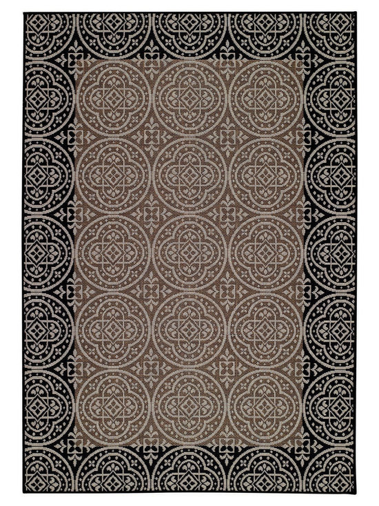 Sterling Crown rug in Bronze - This fashion-forward group of designs and colors is innovative and fresh - from damask to floral to antique coin patterns.