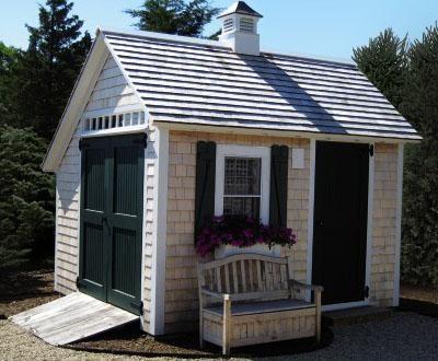 10' x 12' Stony Brook Saltbox modern-sheds