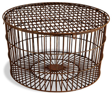 Round Wrought Iron Coffee Table - Aidan Gray eclectic-coffee-tables