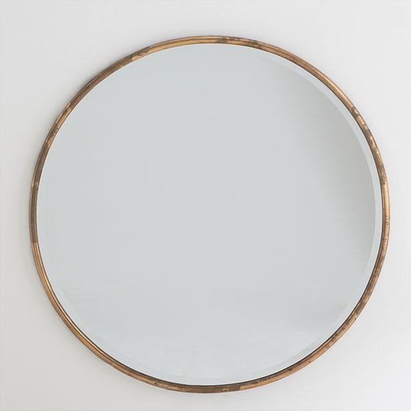 Gilt Minimalist Mirror Modern By Wisteria
