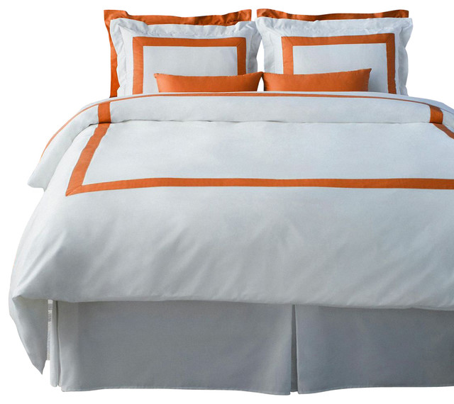 Lacozi Boutique Hotel Collection Persimmon Duvet Cover Set Modern Duvet Covers And Duvet