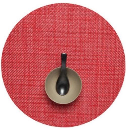 Basketweave Set of 4 Round Tablemats modern-tablecloths