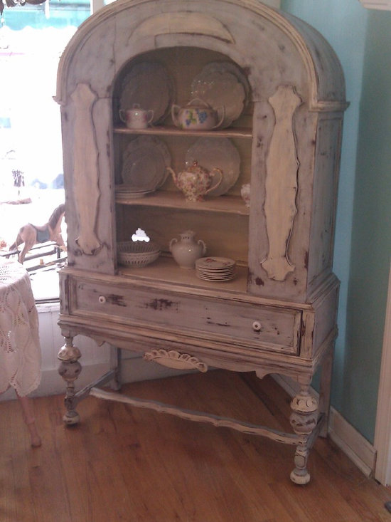 antique china cabinet in french blue distressed - i love this paint finish and i love the design of this wonderful antique china cabinet