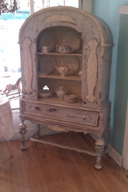 antique china cabinet in french blue distressed - Eclectic - China Cabinets And Hutches - new ...