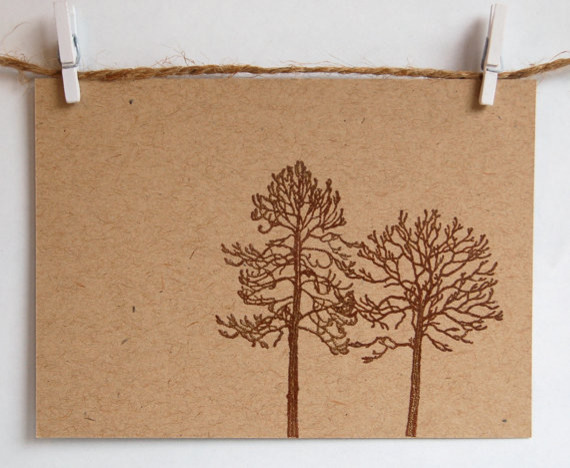 Oak Tree Hand Stamped Embossed Cards By ArtisanPost contemporary-home-decor