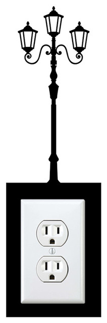 outlet lamp post sticker eclectic wall decals by stickonmania. Black Bedroom Furniture Sets. Home Design Ideas