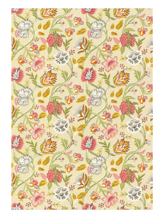Cayman Fabric, Beige and Pink -
