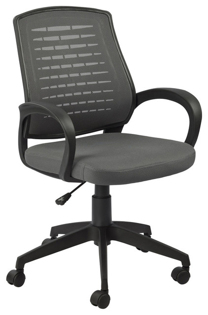Gray mesh vented back office chair modern office chairs