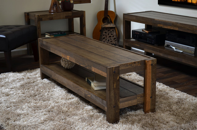 Reclaimed Wood Pallet Barn Wood Style Coffee Table Presearth Spice Rustic Furniture