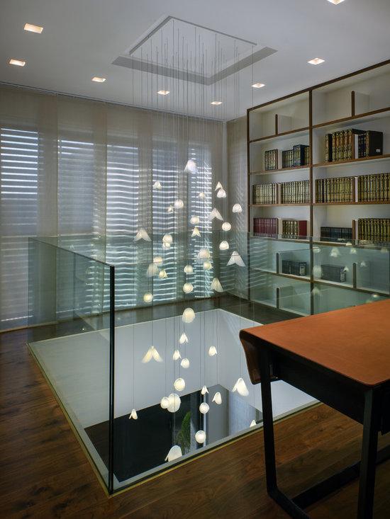 Modern chandelier - sea shell light pendants - Modern chandelier by Galilee Lighting