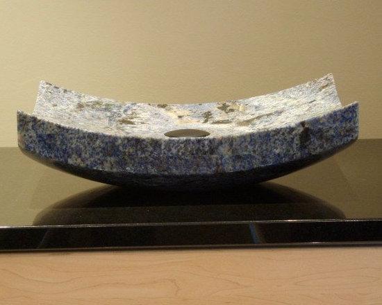 Blue Bahia Bent Form Vessel Sink -