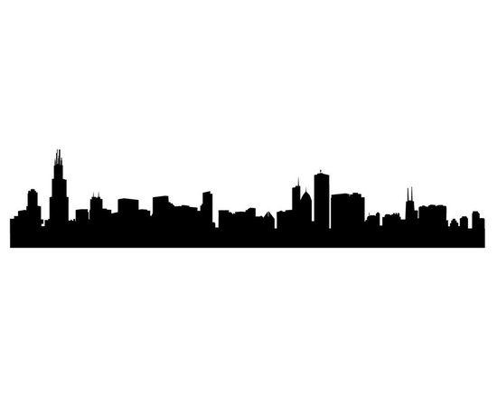 Dana Decals - Chicago Skyline - Ideal for homes, kids rooms, and schools.