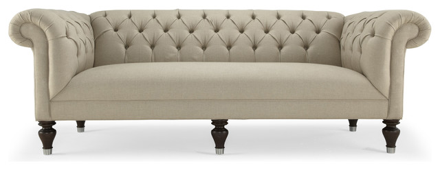 Chester 90 inch sofa traditional sofas by mitchell for 90 inch couch