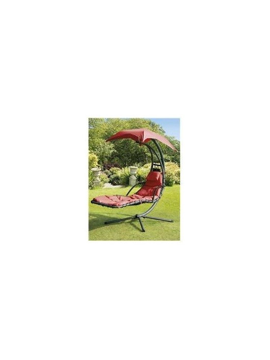 SunTime GF05530 Helicopter Swing, Steel, Red Canopy & Cushion -