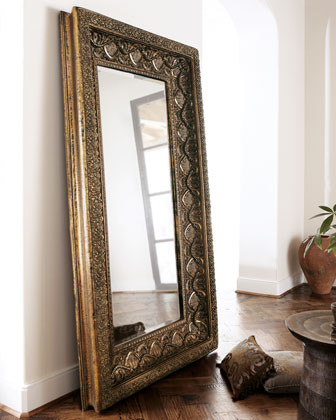 Resin floor mirror traditional floor mirrors for Affordable large mirrors