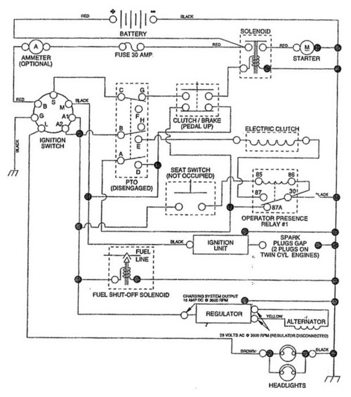 craftsman riding mower ignition switch wiring craftsman murray riding tractor wiring diagram images on craftsman riding mower ignition switch wiring