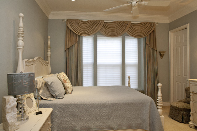 Guest Bedroom traditional-window-treatments