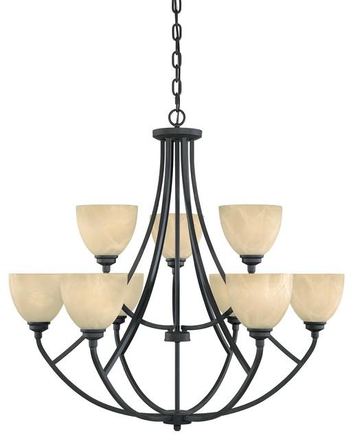 9 Light Chandelier modern-chandeliers