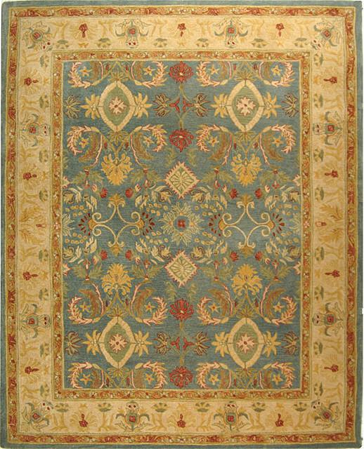 Handmade Legacy Hand-Spun Wool Rug traditional-rugs