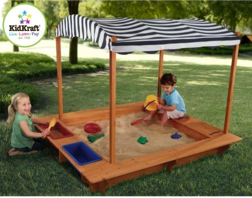 KidKraft Outdoor Sandbox with Canopy traditional-outdoor-playhouses