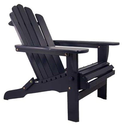 Solid Wood Adirondack Chair by Manchester Wood traditional outdoor chairs