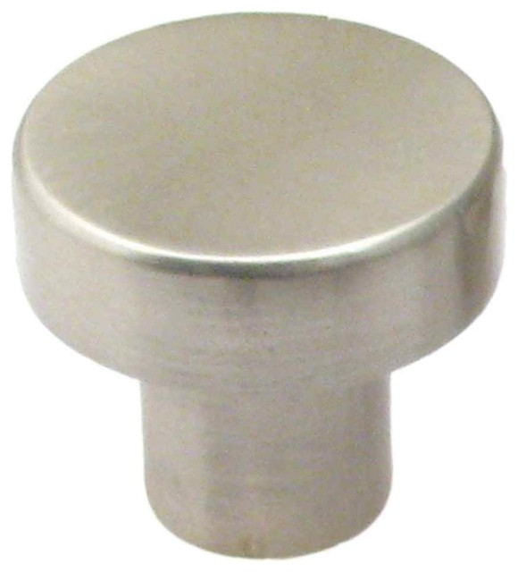 Satin nickel 1 1 8 round modern knob pack of 25 for Contemporary knobs and pulls