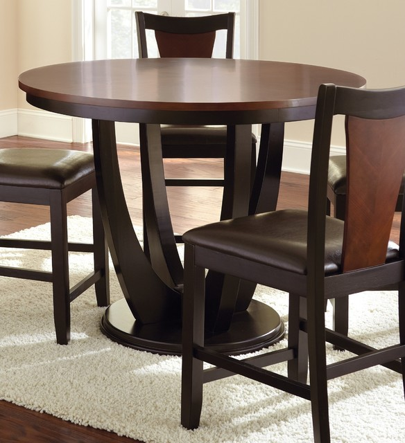 Counter Height Modern Dining Table : ... Medium Cherry Counter Height Dining Table contemporary-dining-tables