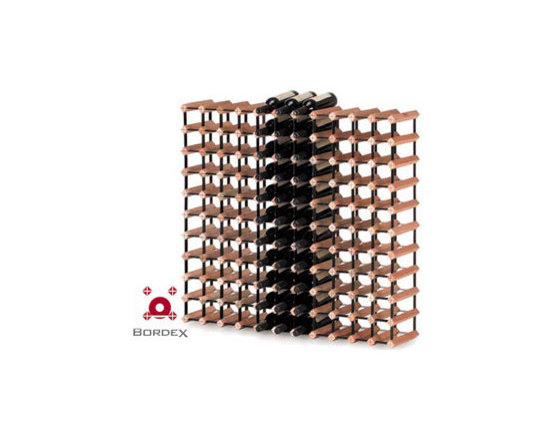 Bordex 120 Bottle Wine Rack Kit - Bordex wine storage systems are strong, affordable and modular. You can start small then add more wine racks as your collection grows. Distinctively designed from assorted natural hardwood timbers and baked enamel steel. The unique Bordex wine storage systems include self assembly kits and add style to any home or cellar decor as well as for effective, commercial display. Every bottle position is equipped with Protectex® clips to prevent label damage.