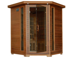 HeatWave Whistler Corner Cedar Infrared Sauna with Carbon Heaters - 4 Person traditional-saunas