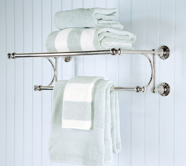 Mercer train rack traditional towel bars and hooks for Bathroom towel racks