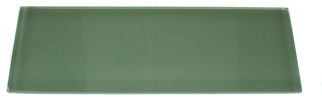 Loft Spa Green Frosted 4x12 Glass Tile contemporary-tile
