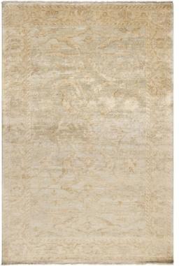 "Surya Hillcrest HIL-9010 5'6"" x 8'6"" Oyster Gray, Biscotti Rug craftsman-rugs"