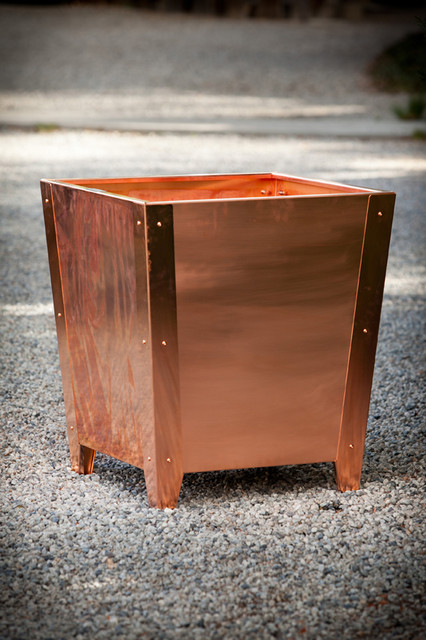 Copper Planters Modern Outdoor Pots And Planters Los
