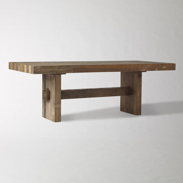 Emmerson Reclaimed Wood Dining Table Craftsman Dining Tables By