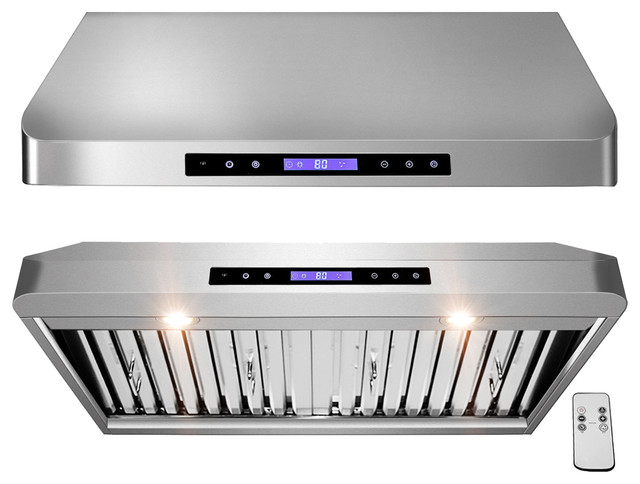 AKDY AG-ZR01 Under Cabinet Range Hood Stainless Steel Kitchen Vent Hood 900CFM, - Contemporary ...