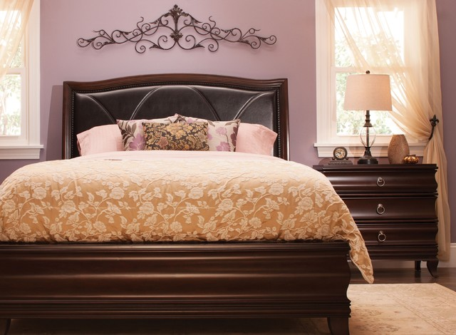 belanie 4 pc queen platform look bedroom set transitional bedroom