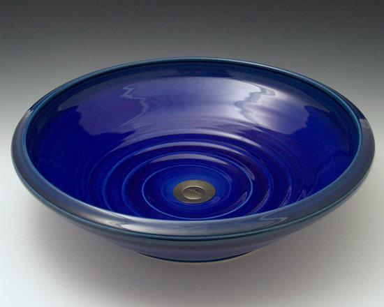 Indikoi Sinks LLC - SOHO-indigo - Soho Indigo vessel mount sink. Hand crafted by Indikoi Sinks New London, NH.