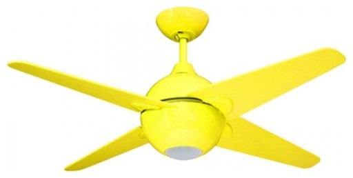 42 Inch Ceiling Fan Yellow Finish and Blades contemporary-ceiling-fans
