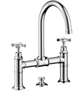 Axor Montreux Widespread Faucet With Cross Handles Bridge