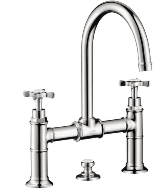 Axor Montreux Widespread Faucet with Cross Handles, Bridge Model traditional-bathroom-faucets-and-showerheads