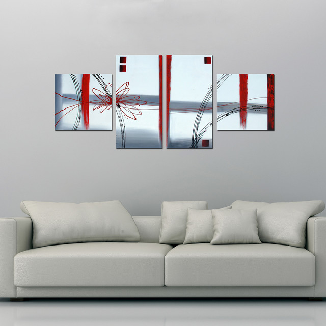 Hand-painted 'Abstract' Canvas Art Set contemporary-artwork
