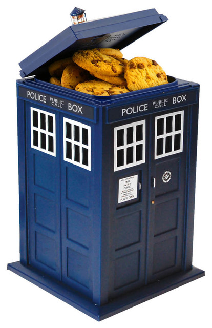 Doctor who tardis talking cookie jar contemporary kitchen canisters and jars by - Tardis cookie jar ...
