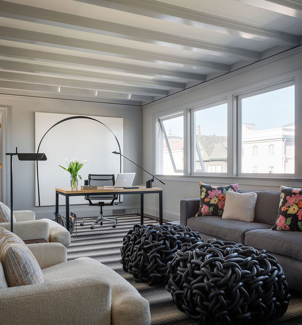 Pacific Heights contemporary-home-office