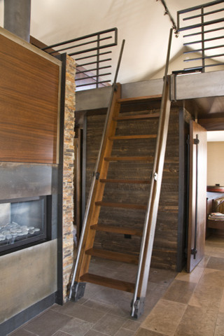 Quaker Bluff Cottage contemporary-staircase