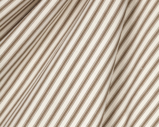 Tick Tock : Sepia - Taupe ticking stripe woven fabric.