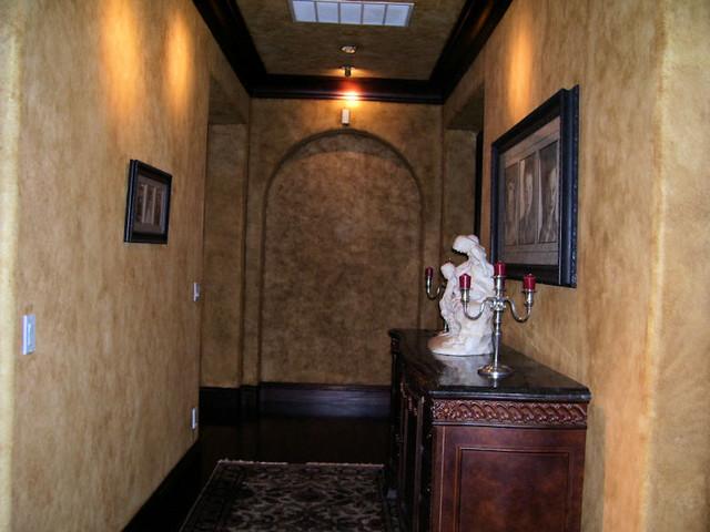 Venetian Plaster Walls in an eclectic home eclectic